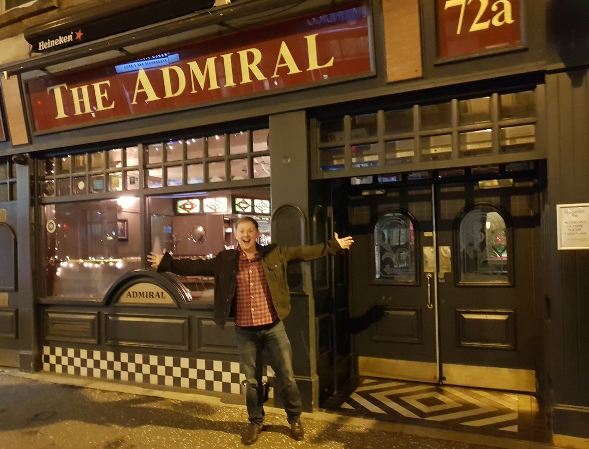 simon cassidy outside of Glasgow's Admiral bar after the most recent One Fall Sessions event